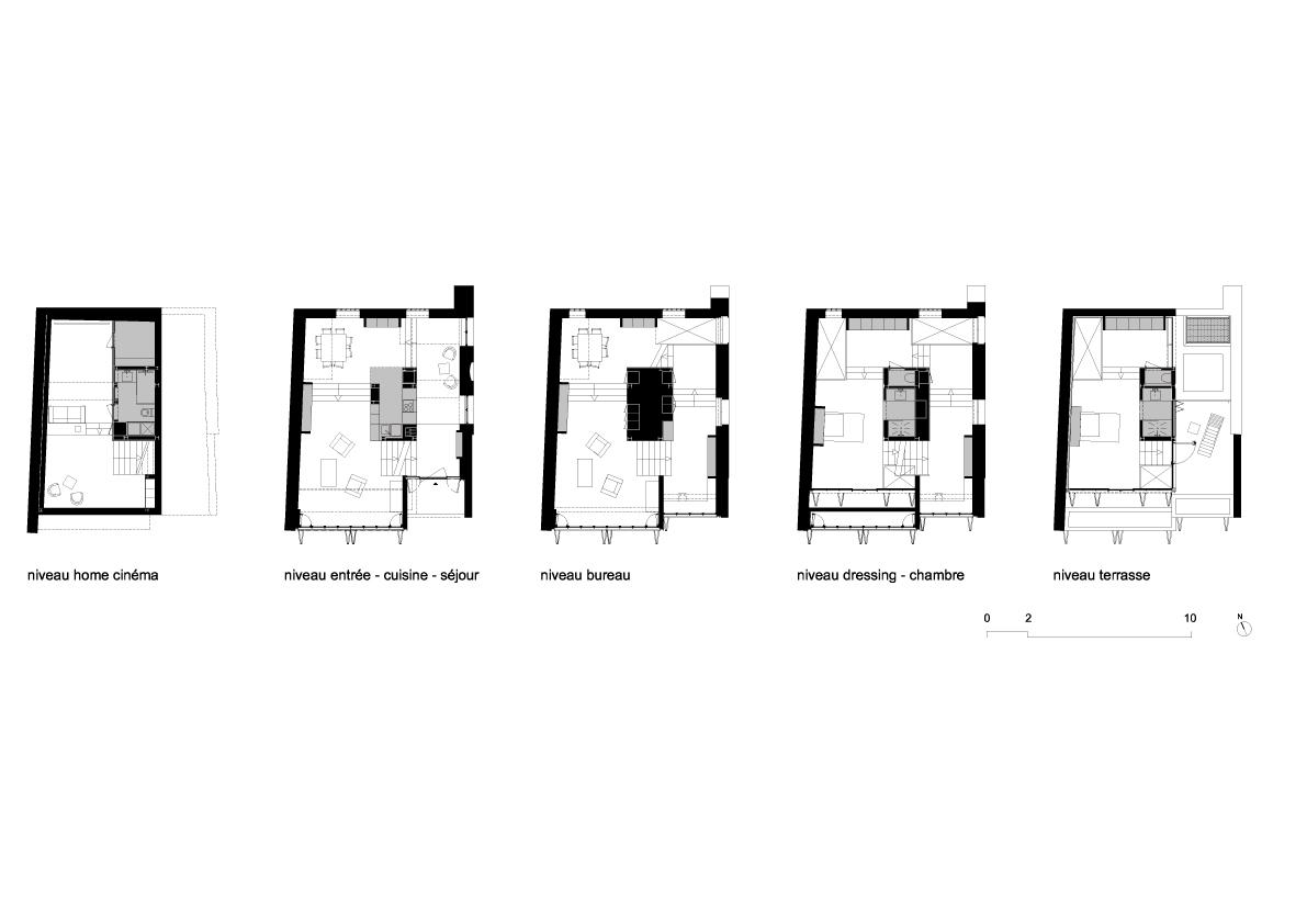 gallery of maison escalier 33. Black Bedroom Furniture Sets. Home Design Ideas