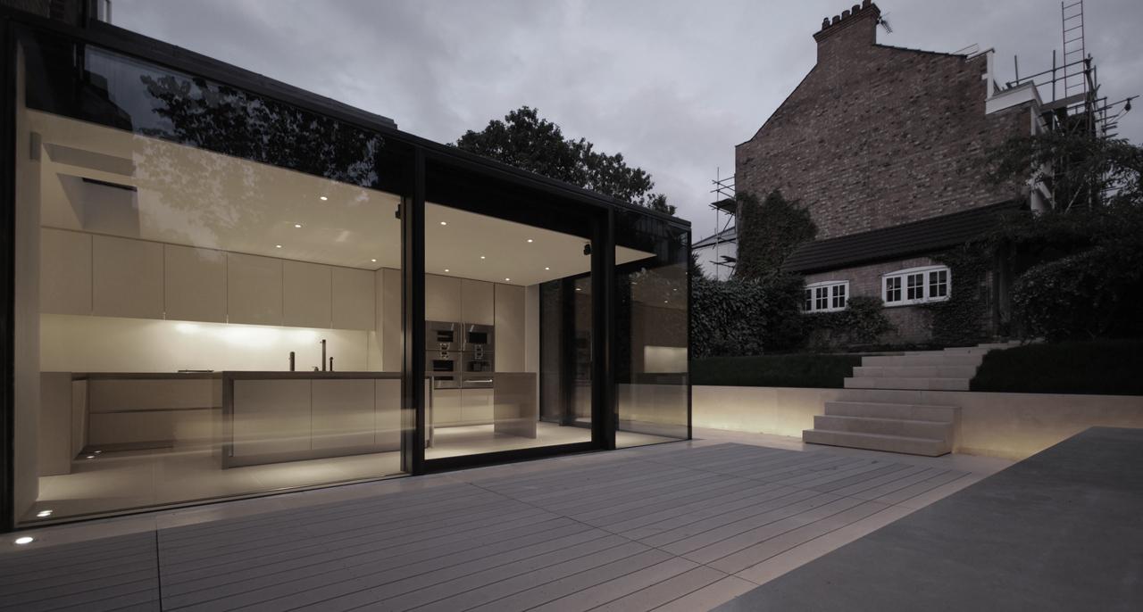 Gallery of rear house extension garden design lbmv for Extension architecte