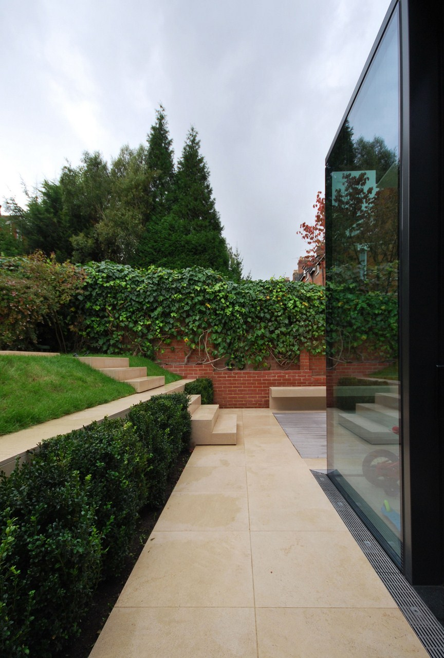 Gallery of rear house extension garden design lbmv for Garden house extension