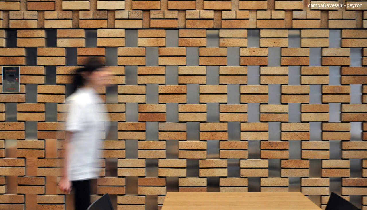 Honeycomb Brick Work : Gallery of cornerstone restaurant studio ramoprimo