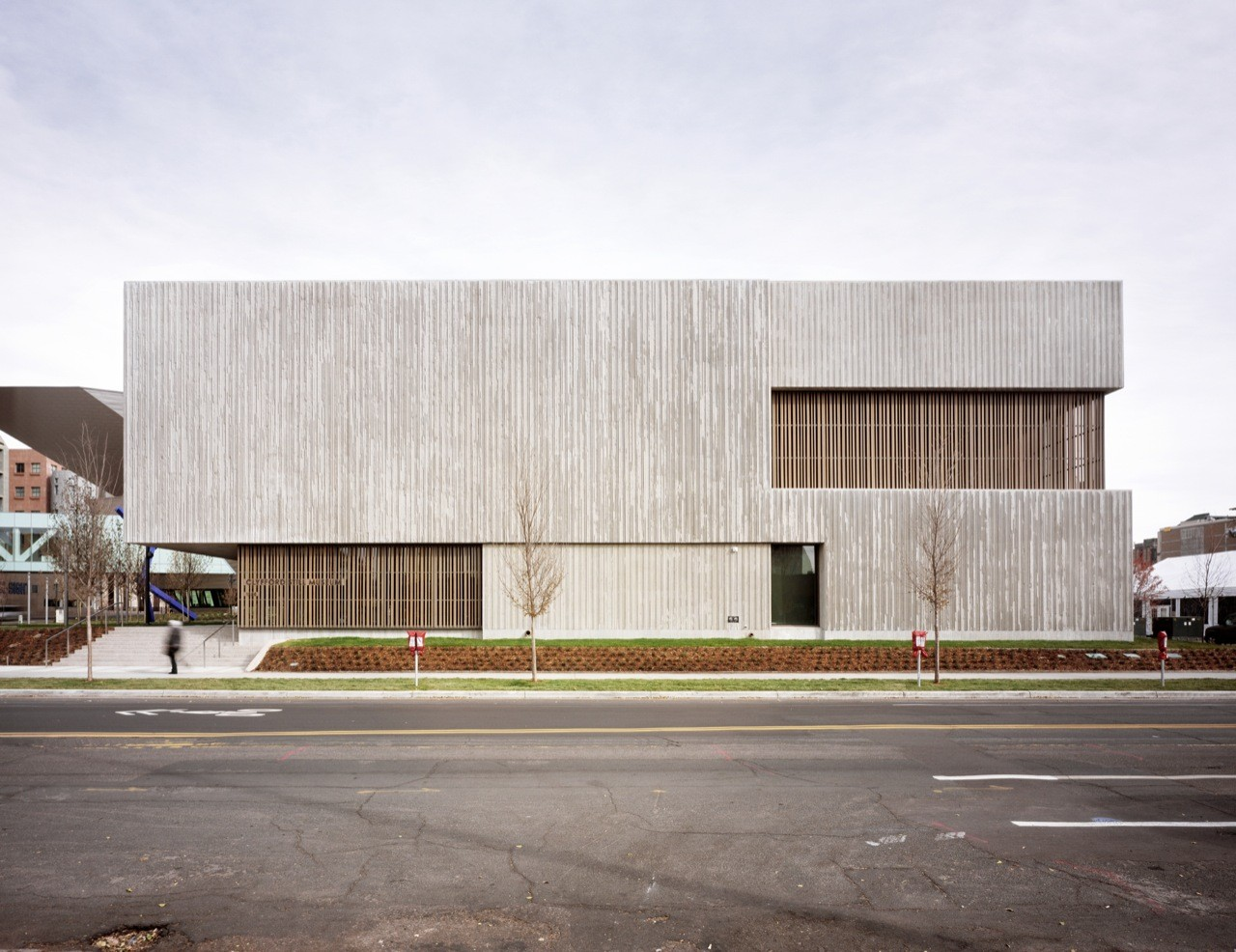 Clyfford still museum allied works architecture archdaily for Architecture elevation