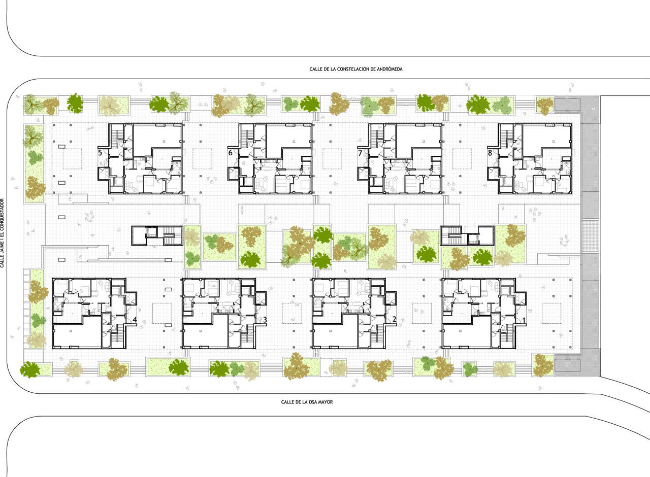 Gallery of 120 social housing in parla arquitecnica 11 for Plan social