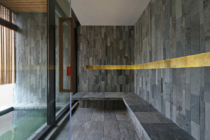 Gallery of ming tang hot spring resort ct design for Steam room plans