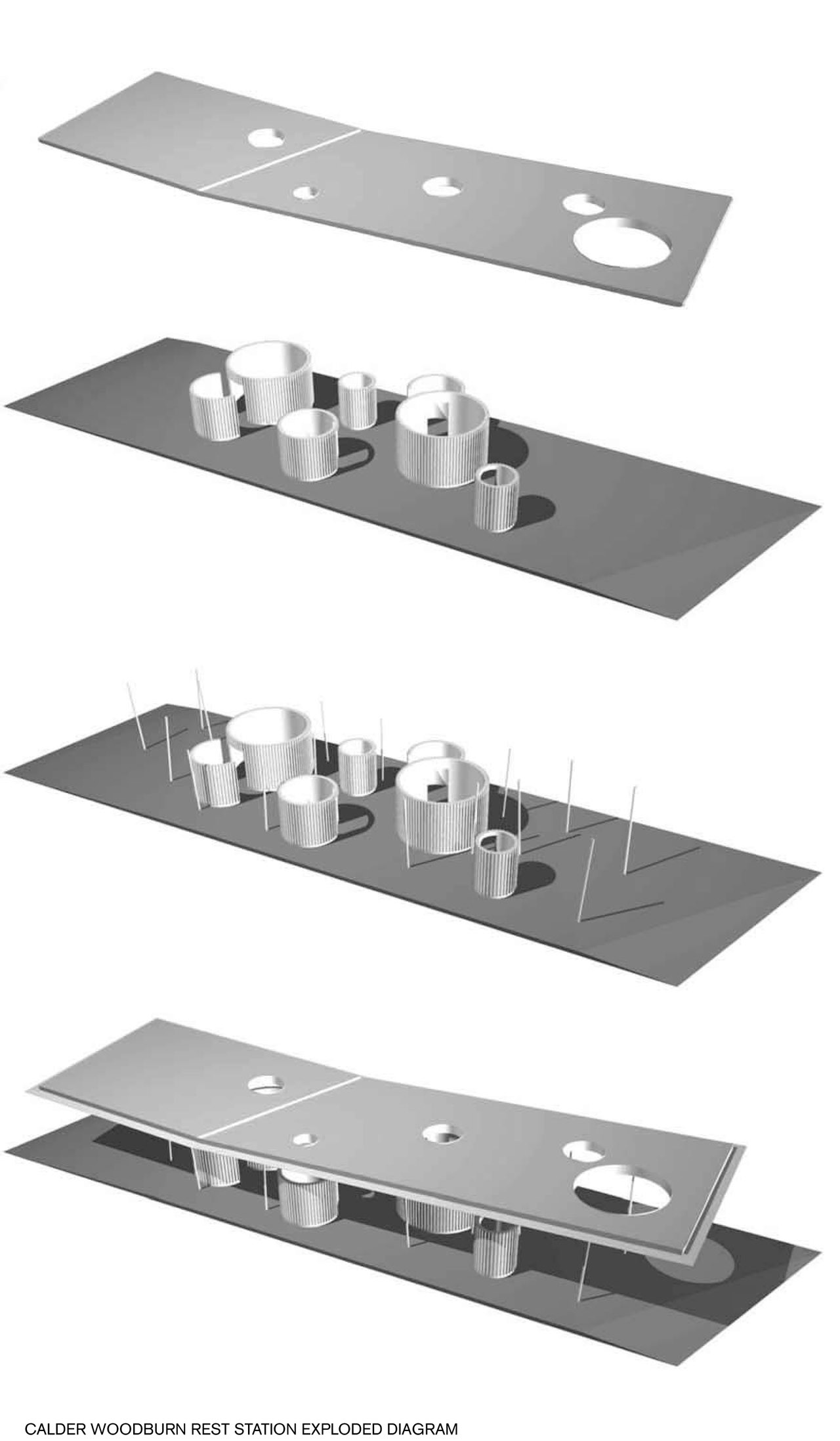 Calder Woodburn Rest Area  BKK Architects ArchDaily - Map of us highway rest stops