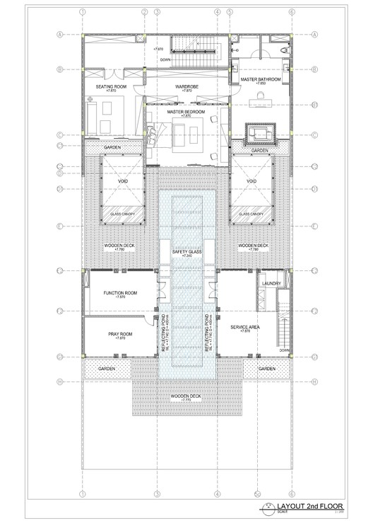 layout plan second floor