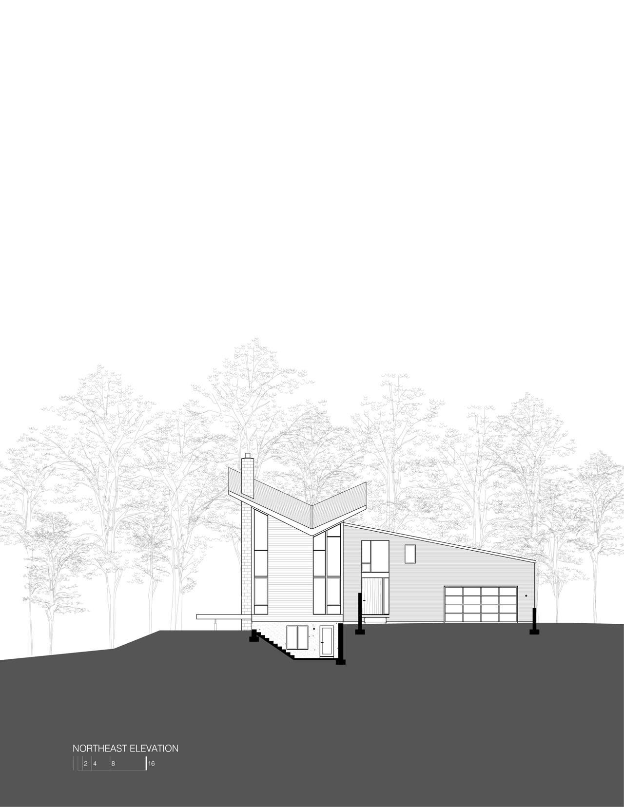 gallery of harkavy residence robert gurney architect 4 harkavy residence elevation