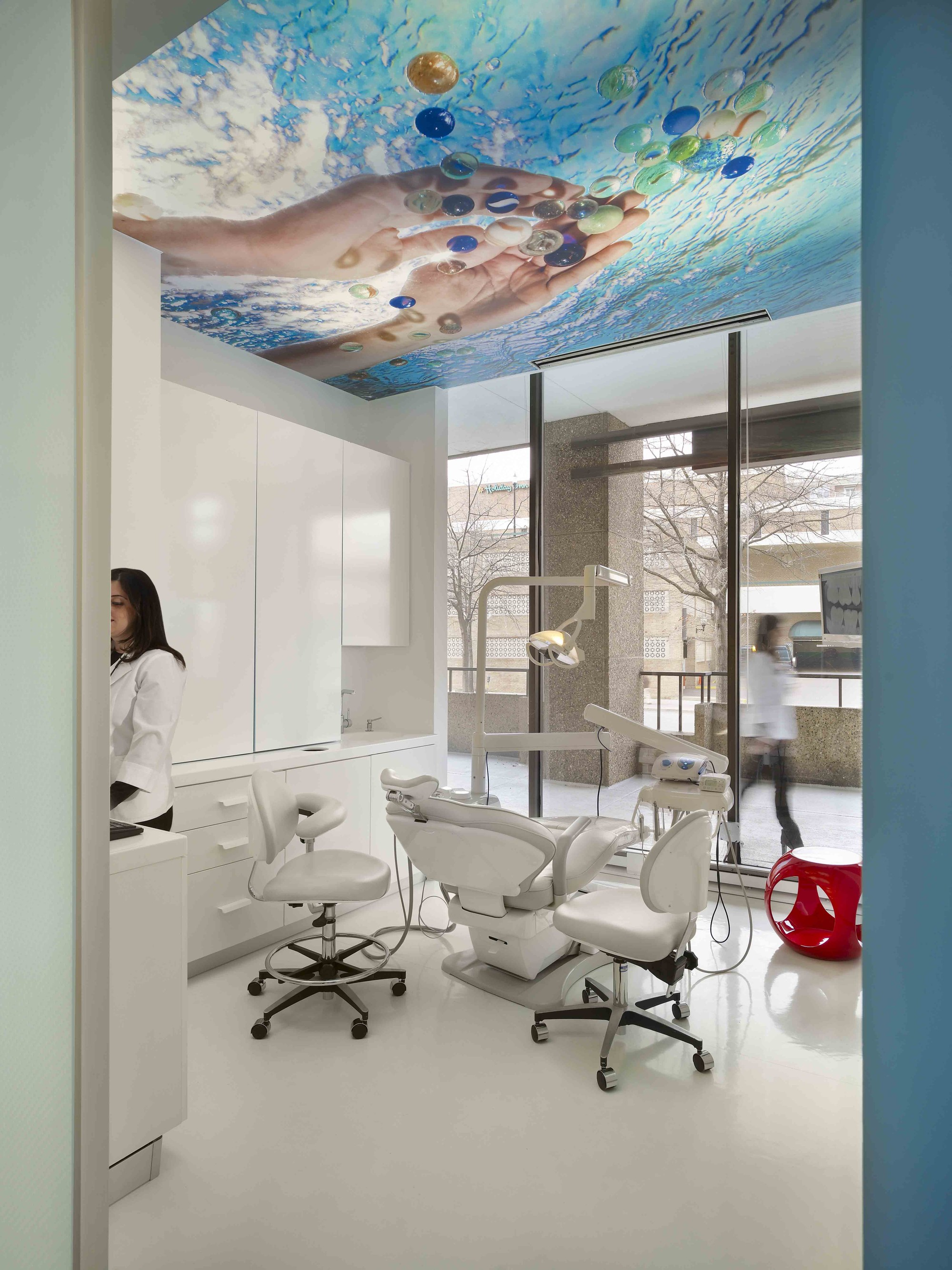 Gallery of smile designer dental office interiors for Dental office interior design