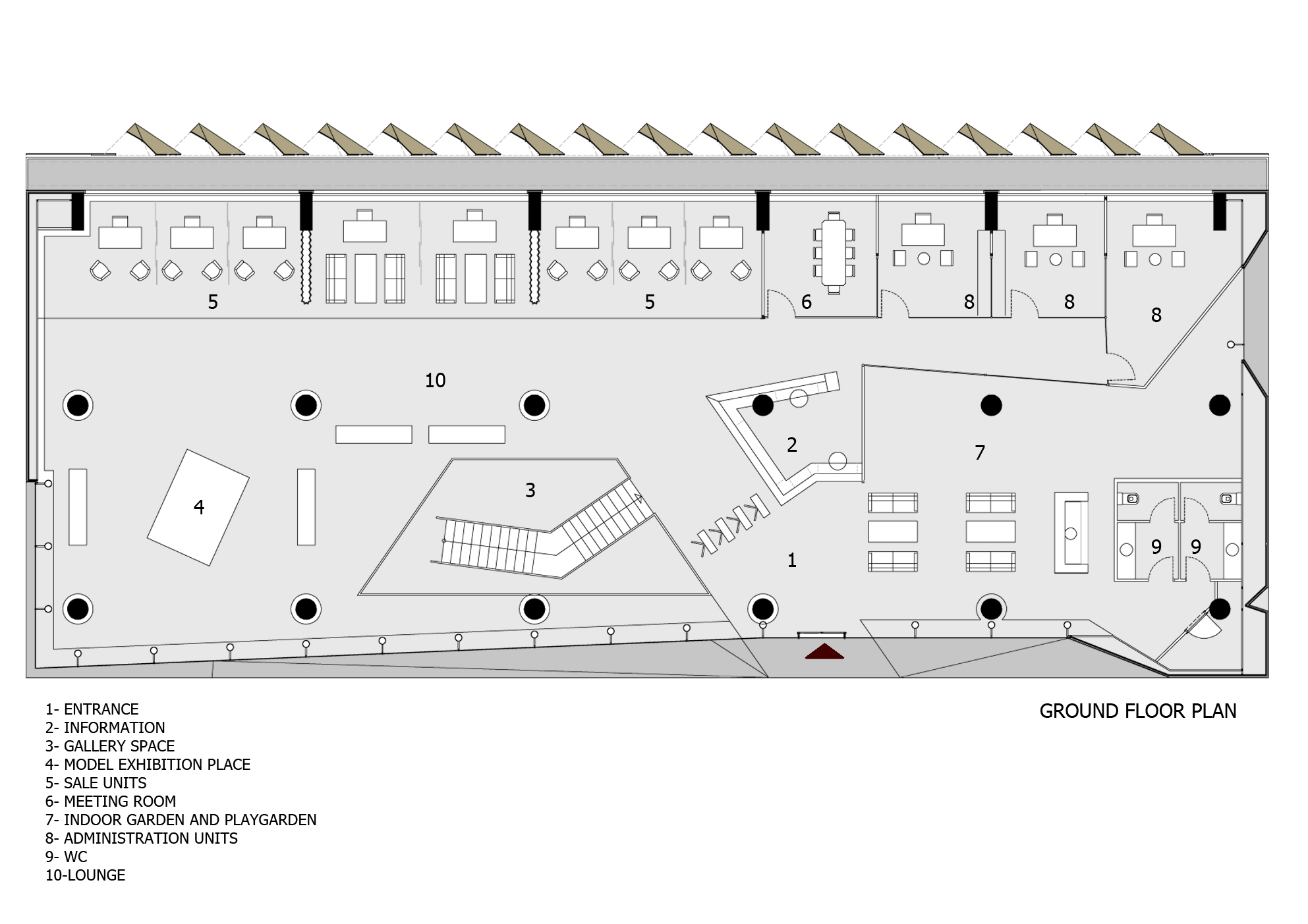 office building in istanbulground floor plan architect office names