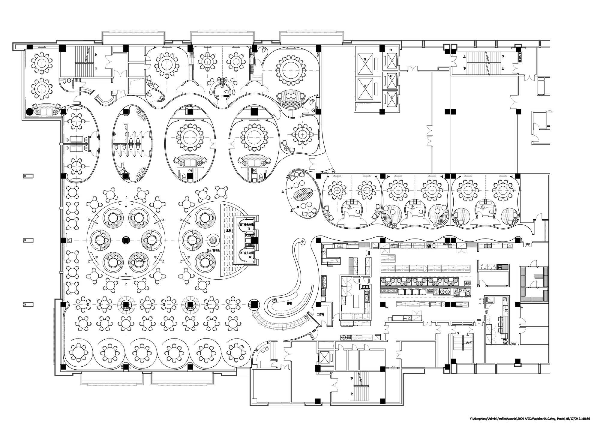 Gallery of jardin de jade restaurant i p a l design for How to create a restaurant floor plan
