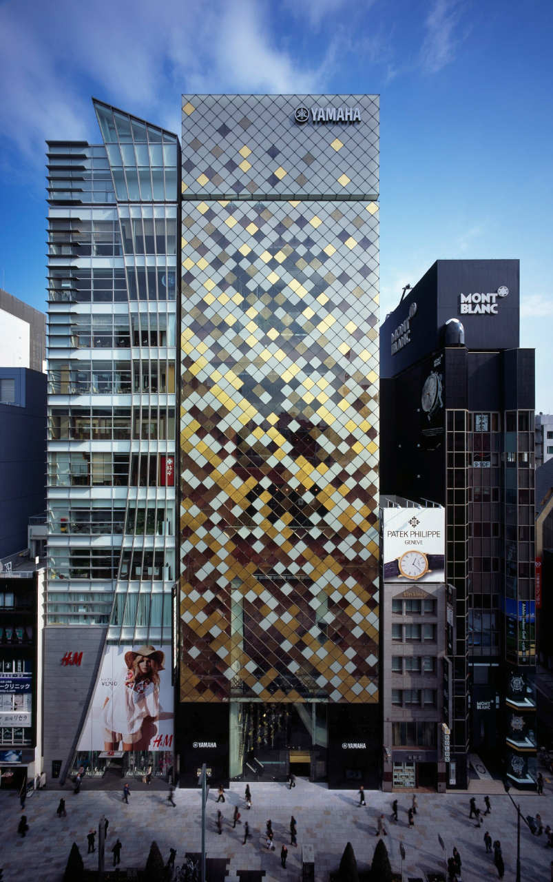 Yamaha ginza nikken sekkei archdaily for Top design hotels tokyo