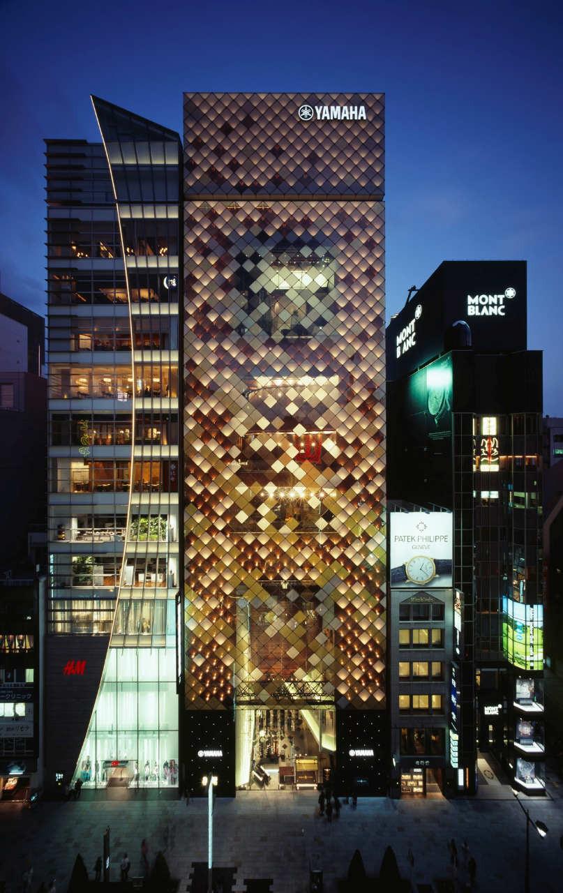 Gallery of yamaha ginza nikken sekkei 2 for Yamaha headquarters usa