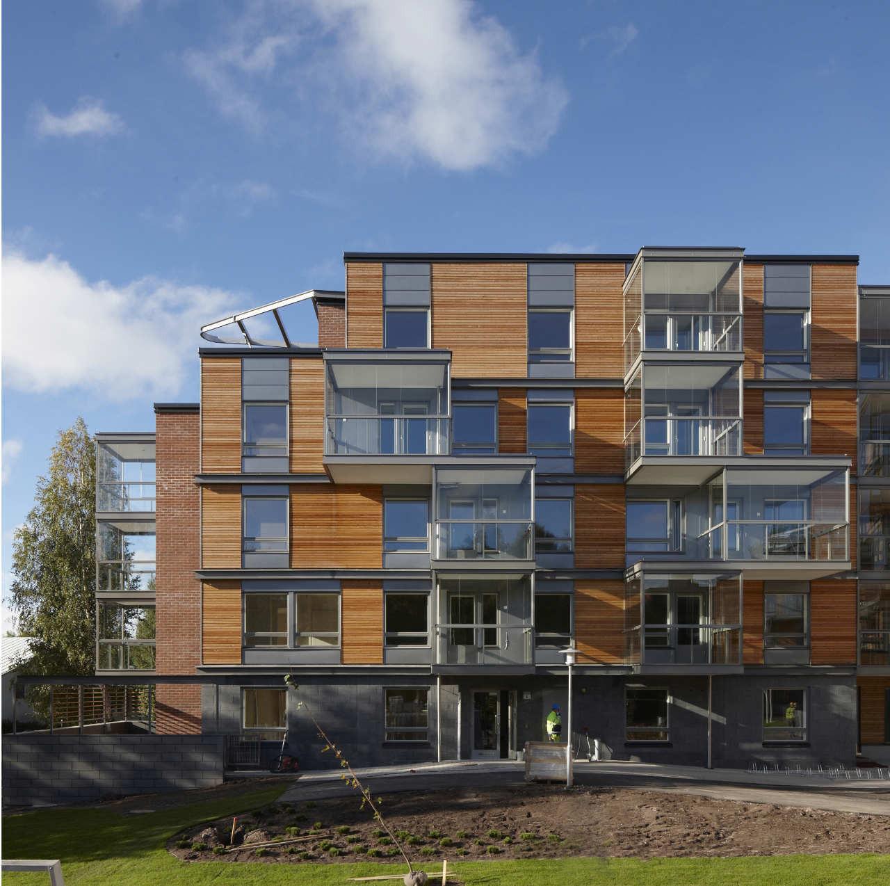 Ruotutorppa Social Housing / Arkkitehdit Hannunkari & Mäkipaja Architects, © Mikael Linden