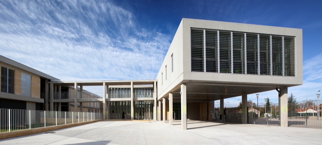Middle School Morières Les Avignon / N+B Architectes, © Paul Kozlowski