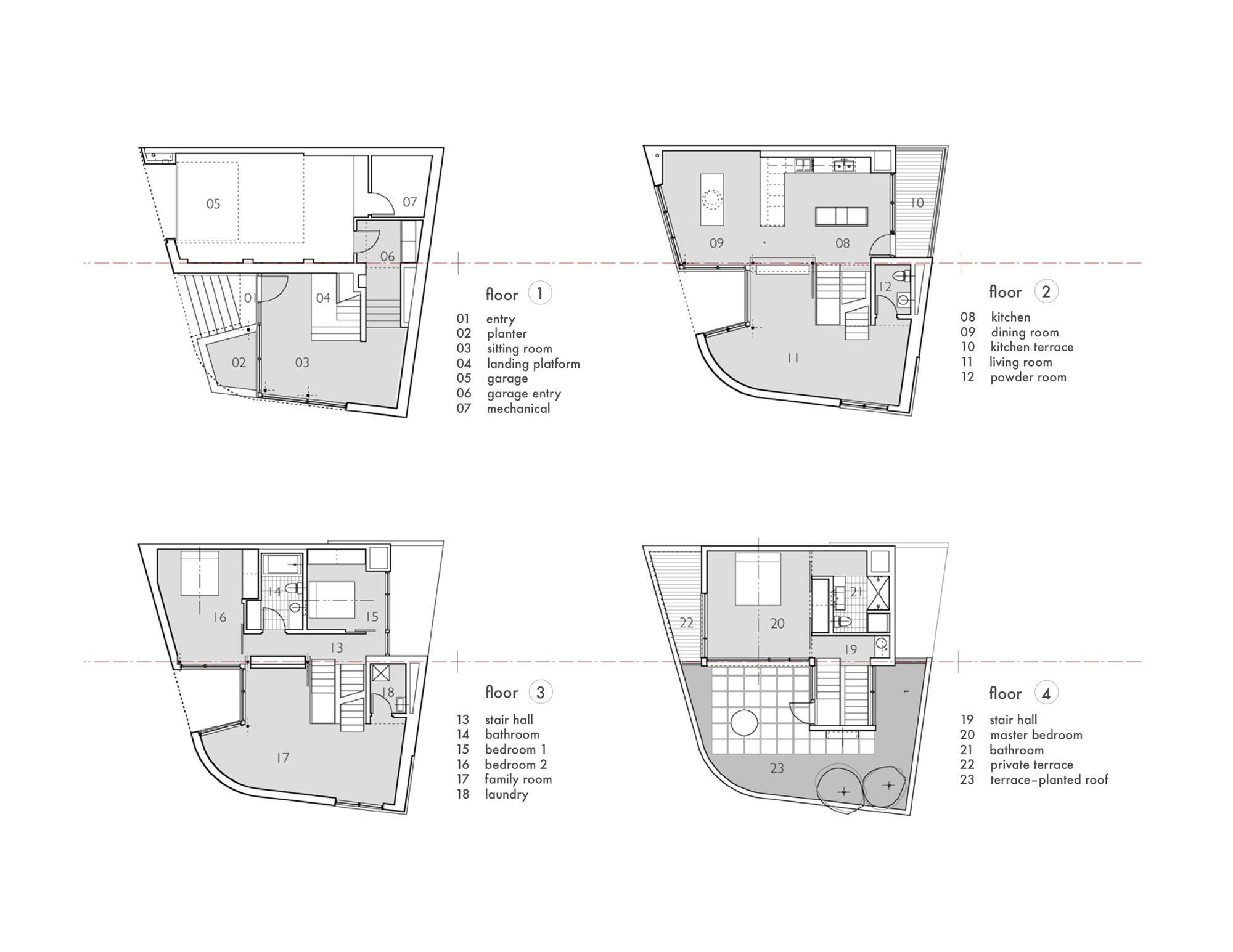 gallery of split level house qb design 20 floor plans