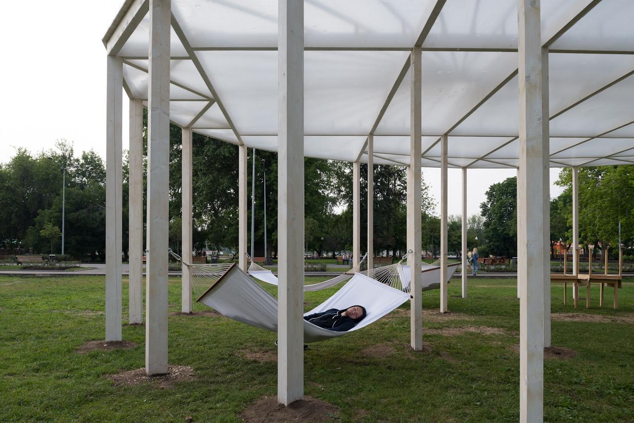 Oval shade in Gorky Park / Bureau Alexander Brodsky, © Yuri Palmin