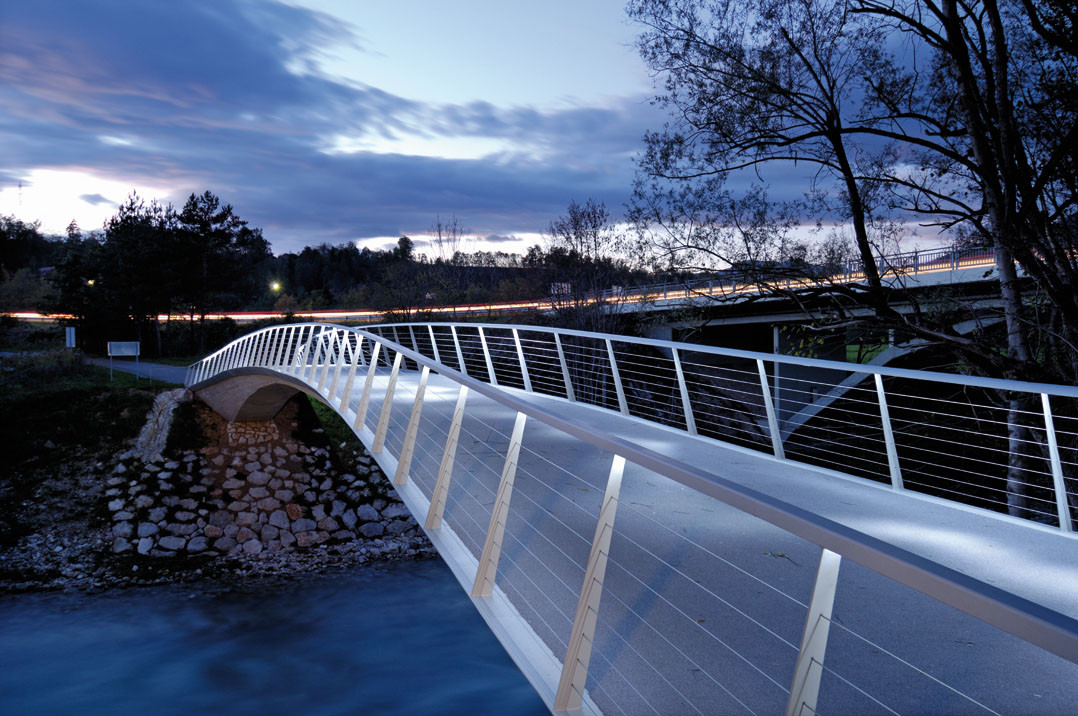 Sava Footbridge / Peter Gabrijelčič + Peter Koren, © Miran Kambič