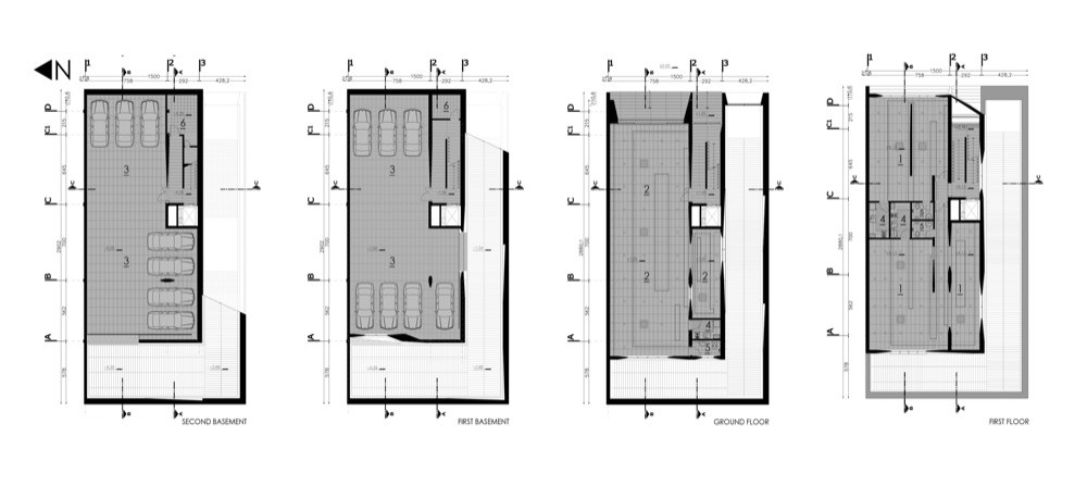 Gallery of commercial office building ryra studio 28 for Two story office building plans