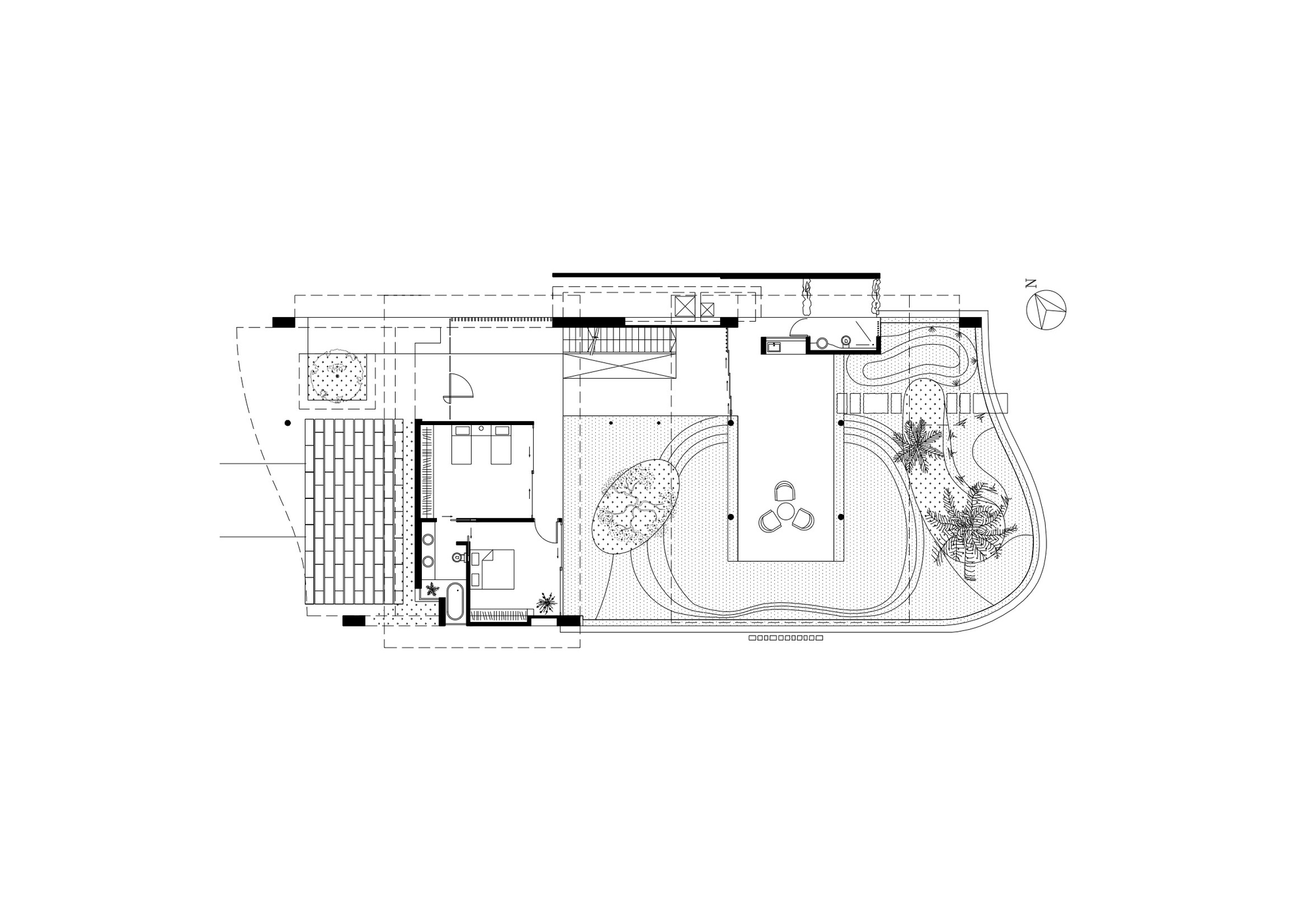 Gallery of fish house guz architects 16 for Fish house floor plans