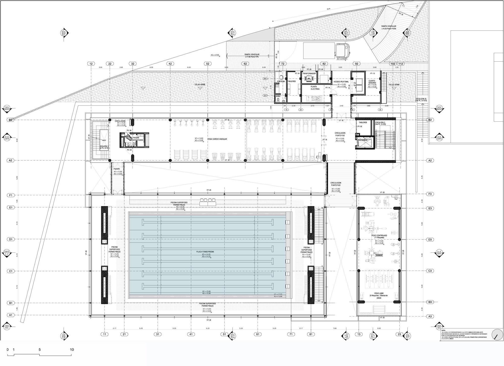 Gallery of universidad de los andes sport facilities mgp for Plan de arquitectura