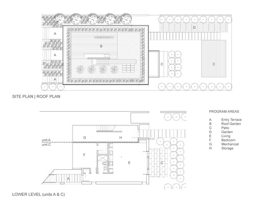 site & lower level plans