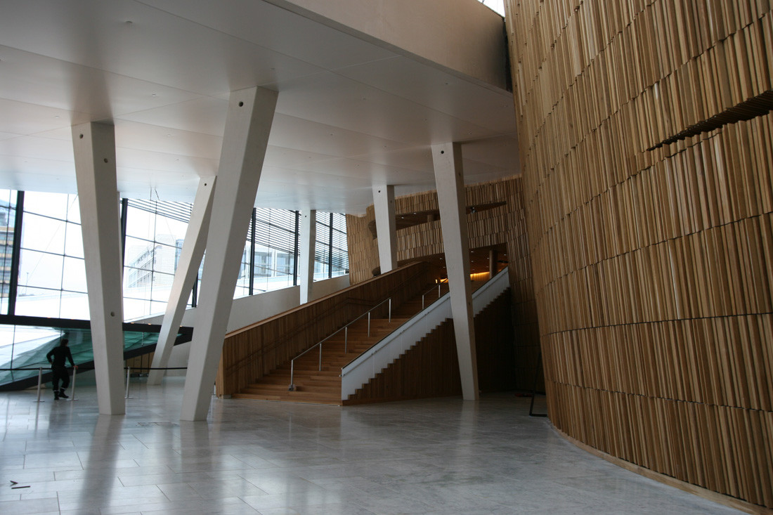 Foyer Architecture : Gallery of oslo opera house snohetta