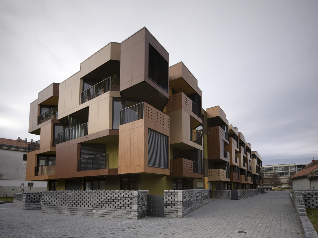 Tetris apartments ofis arhitekti archdaily for Small apartment building design