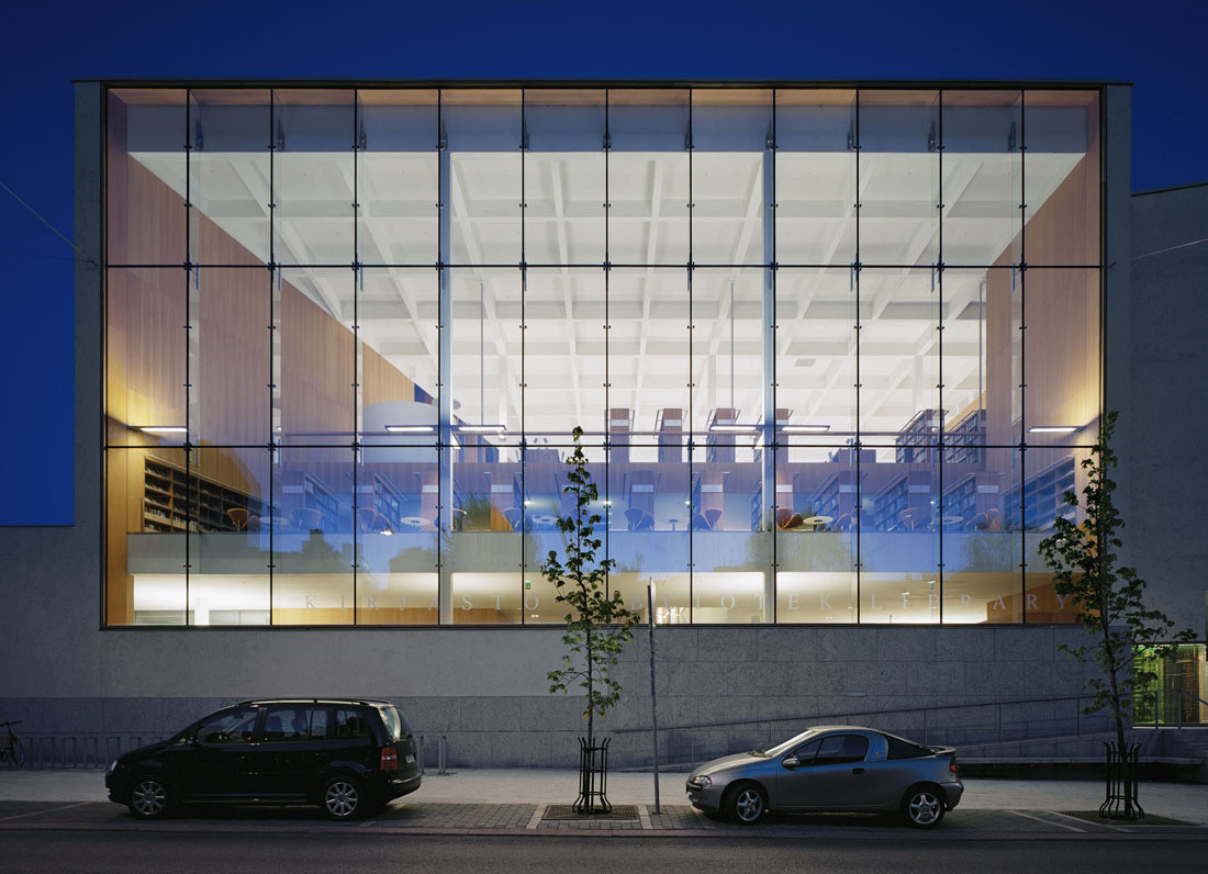 Gallery of turku city library jkmm architects 21 for Exterior glass walls