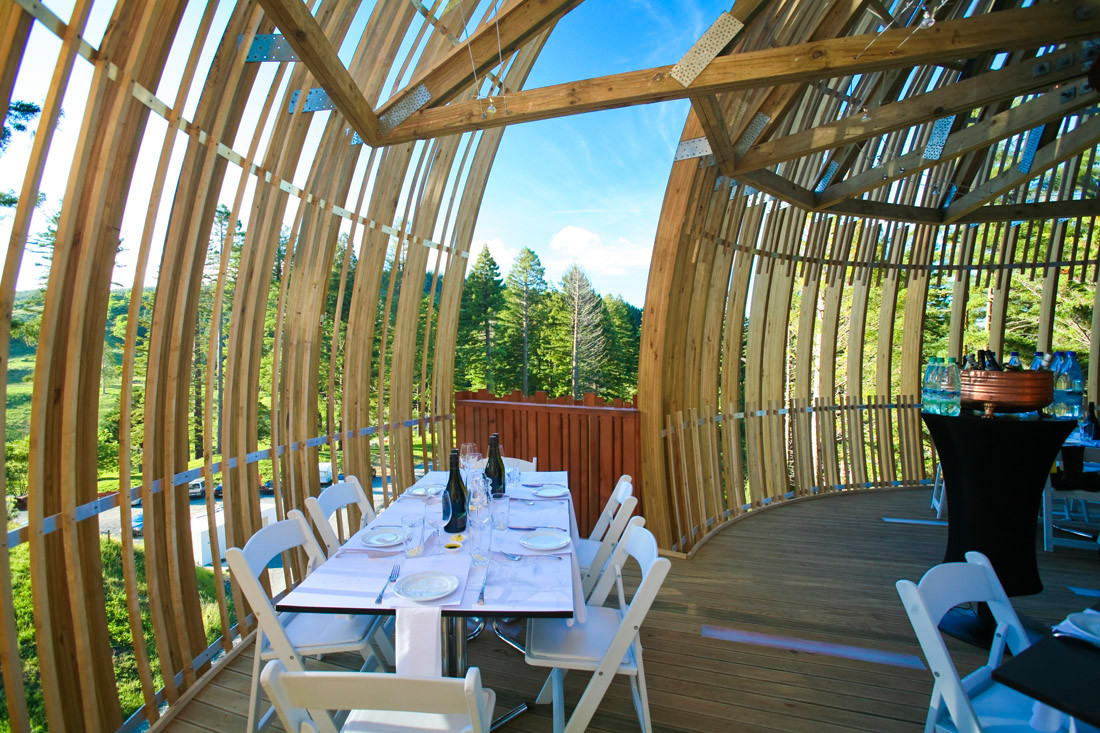 gallery of yellow treehouse restaurant / pacific environments - 4