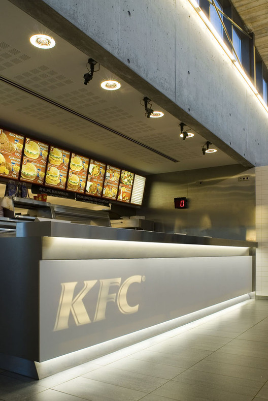Fast food restaurant kfc pk arkitektar archdaily Kitchen design for fast food restaurant