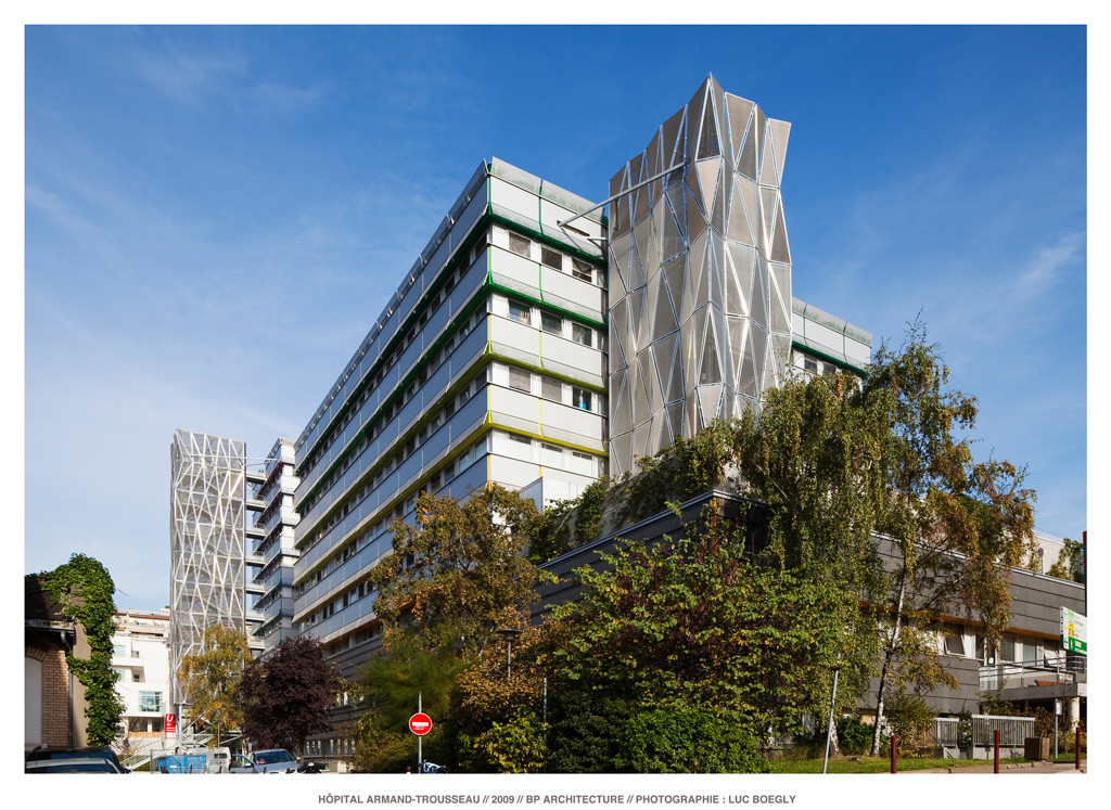 Paris children Hospital's cases / BP Architectures, © Luc Boegly