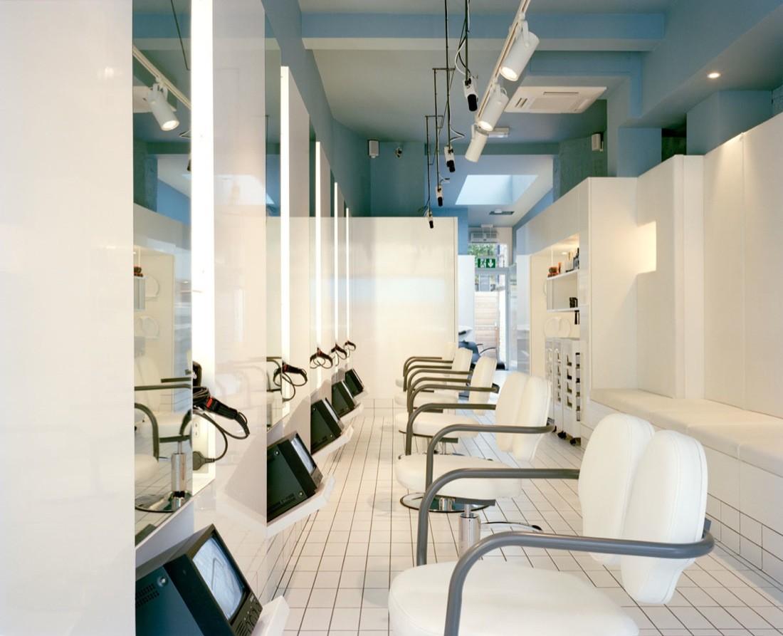 Gallery of the klinik hair salon block architecture 2 for Interior stylist london