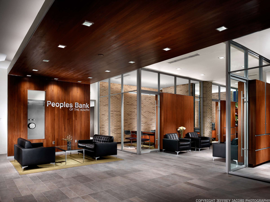 Peoples bank of the south sanders pace architecture for Corporate interior design