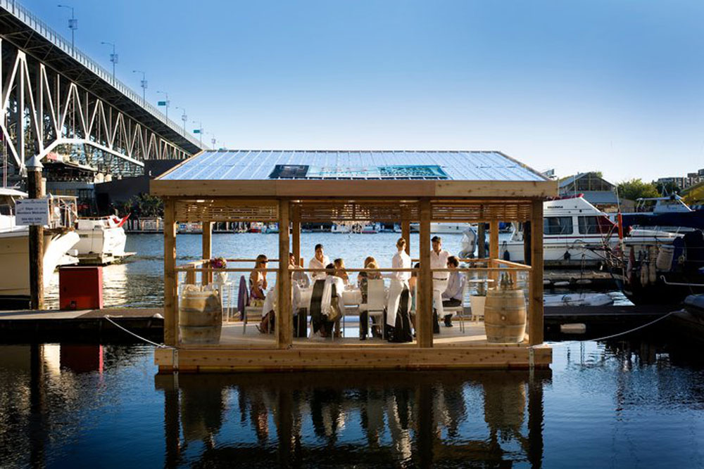Floating Dining Room / Goodweather Design & Loki Ocean, Courtesy of  goodweather design & the school of fish foundation