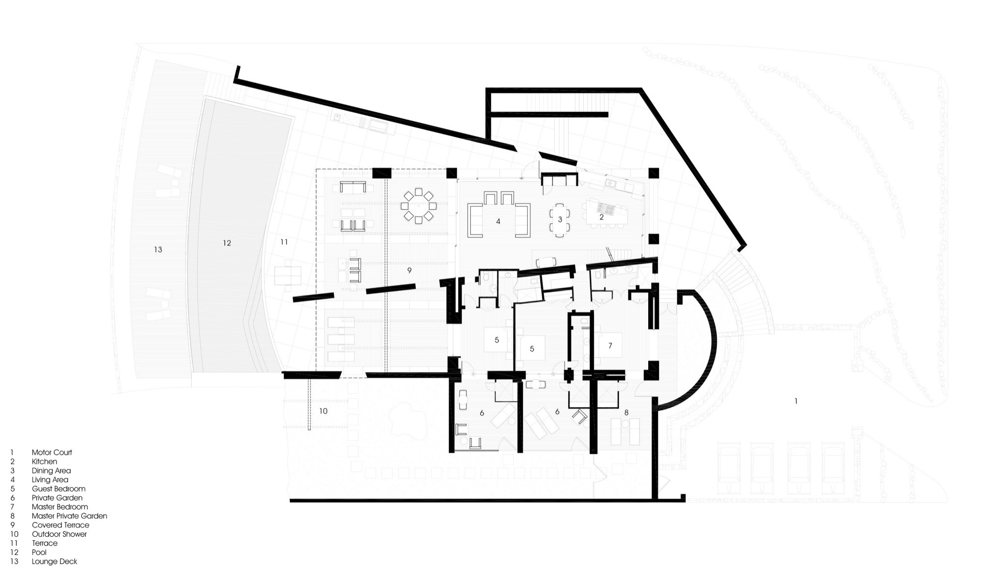 St. Barts Residence,Plan