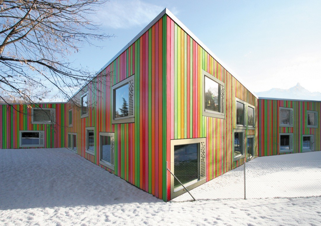 Monthey Kindergarden / Bonnard Woeffray Architectes, © Hannes Henz