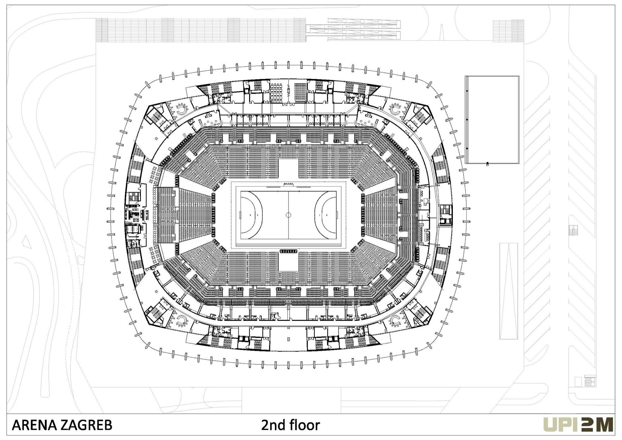 Basketball Arena Floor Plan Gallery Of Arena Zagreb Upi 2m 40