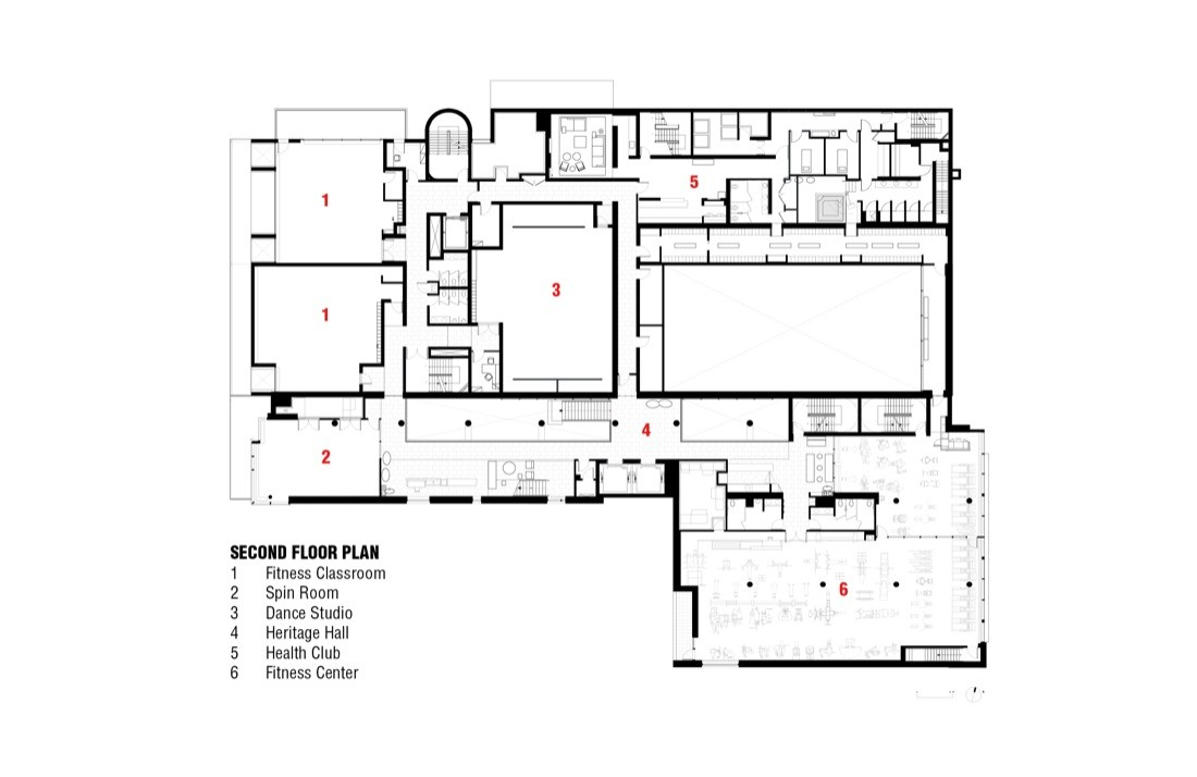 Gallery of sephardic community center bksk 15 for Floor plans for 160 000