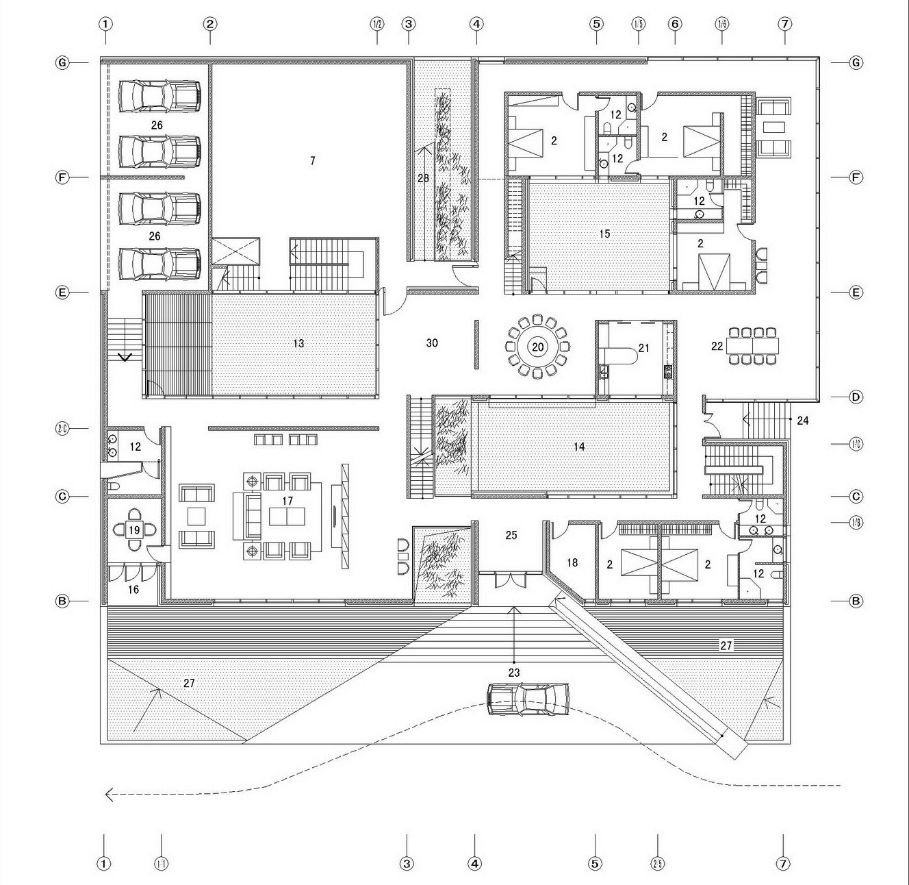 Gallery of the concave house tao lei architect studio 21 for How to make a blueprint of a house