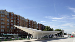 A Canopy and a Pavilion at Porte des Lilas / Matthieu Gelin & David Lafon