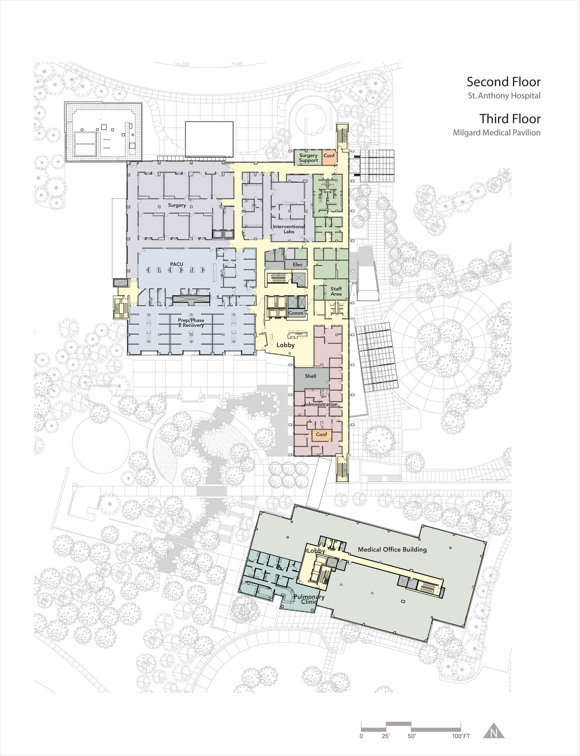 Nursing Home Layout Design Gallery Of St Anthony Hospital Zgf Architects Llp 14