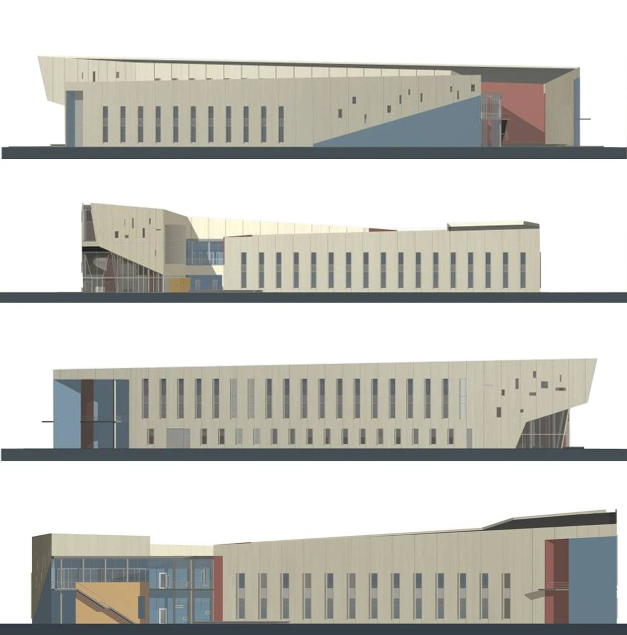 D Front Elevation Of School : Gallery of fiu chapman graduate school business kpf