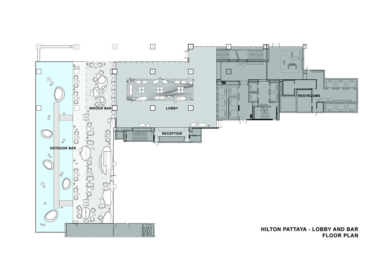 Department Store Floor Plan Gallery Of Hilton Pattaya Department Of Architecture 37