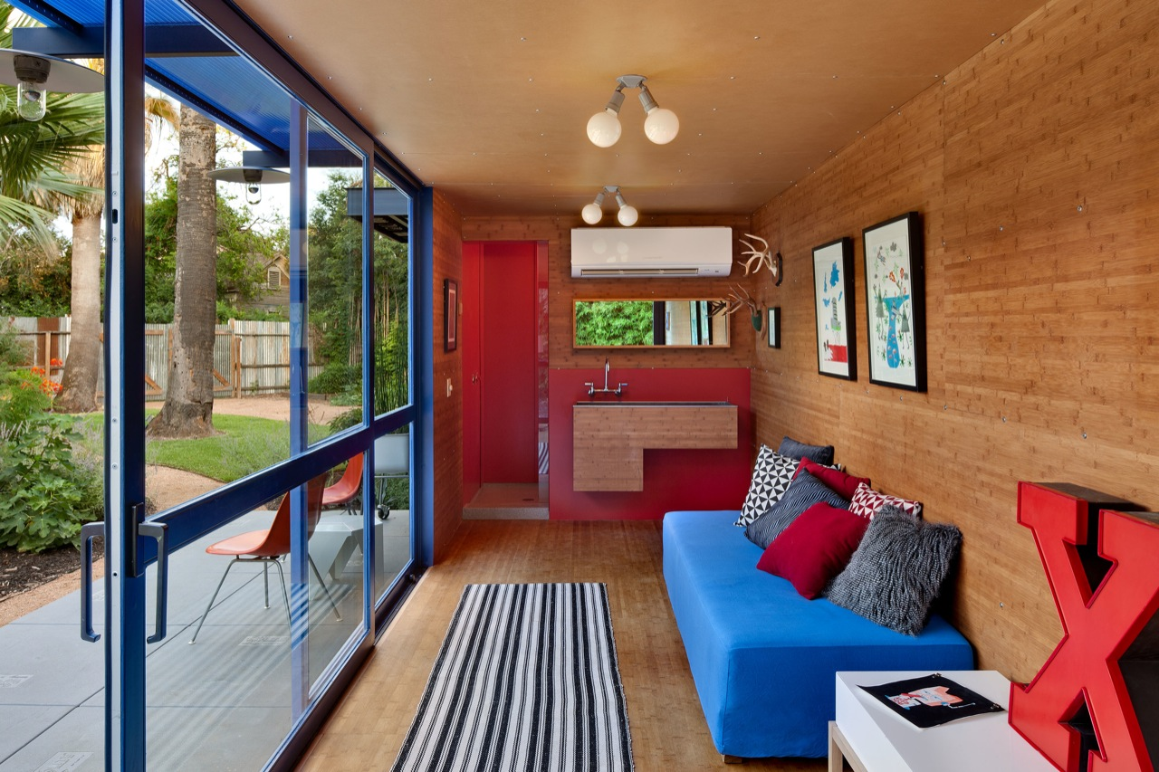 Gallery of container guest house poteet architects 9 - Container home architects ...