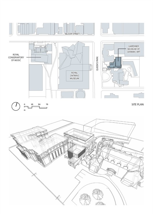 royal ontario museum plans and sections www imgarcade a daily dose of architecture building diagrams