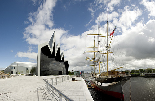 A First Glance at Zaha Hadid's Glasgow Riverside Museum of Transport / Zaha Hadid Architects, ©  Flickr Creative Commons:  Culture & Sport Glasgow