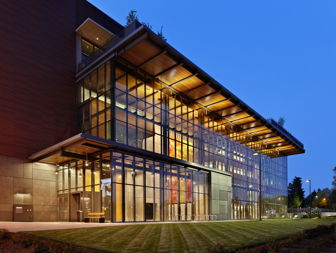 Gallery of vancouver community library the miller hull for House exterior design photo library