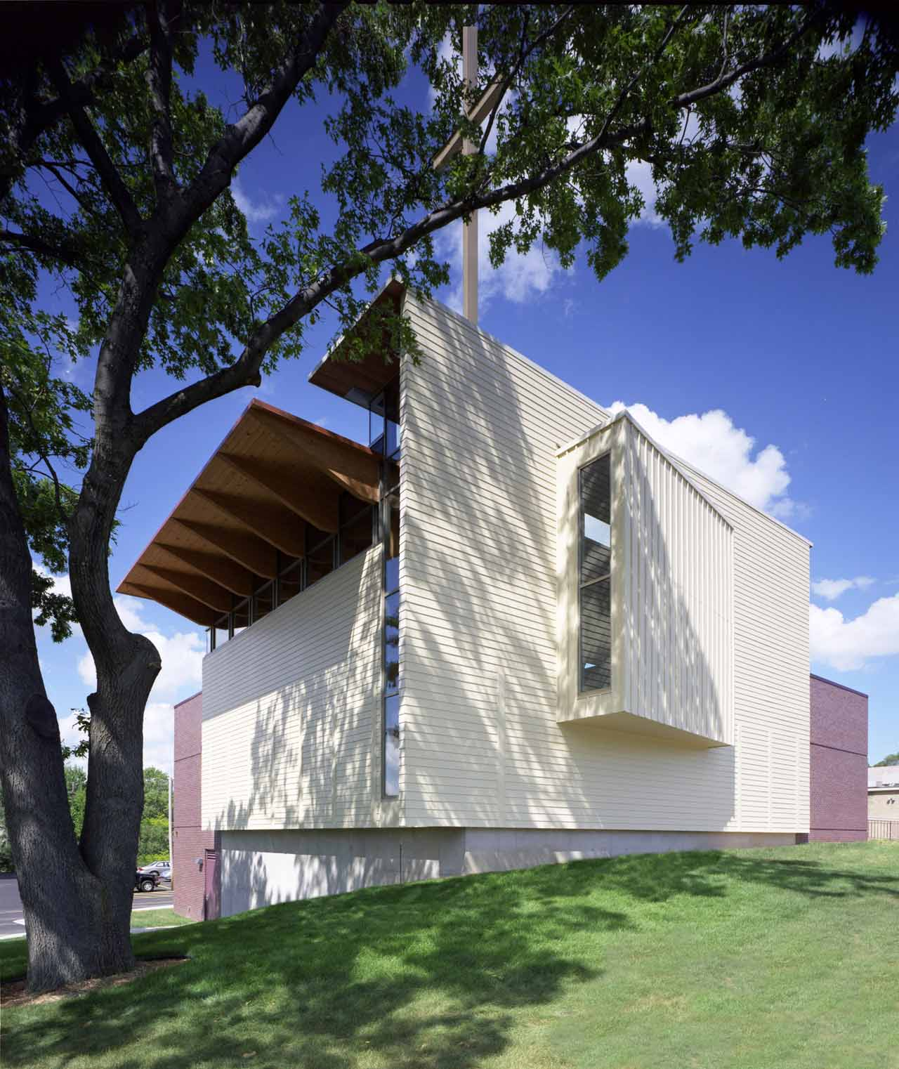 First Congregational Church, United Church of Christ Sanctuary / Constantine George Pappas AIA Architecture/Planning, © David Rose