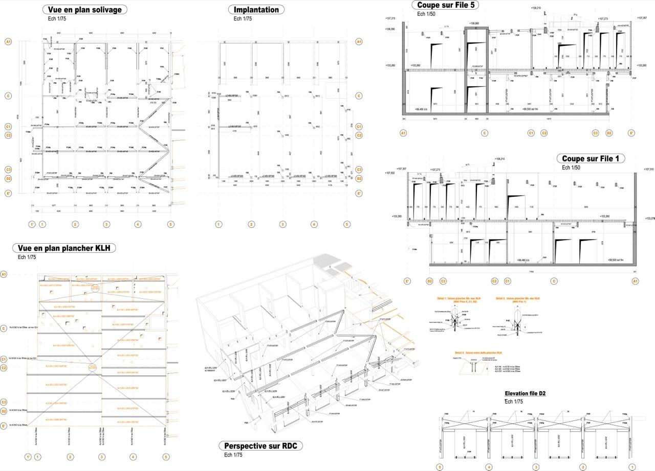 architecture vue en plan maison moderne