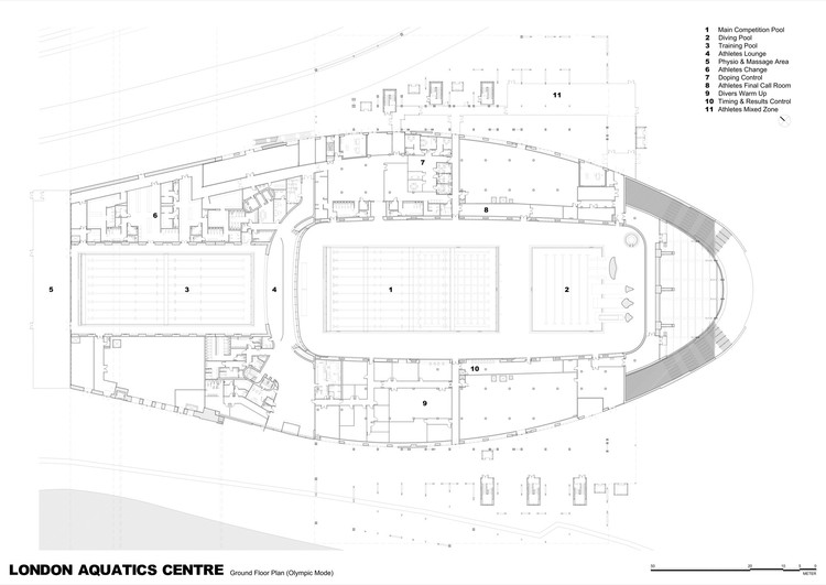 London aquatics centre for 2012 summer olympics zaha for Swimming pool floor plan
