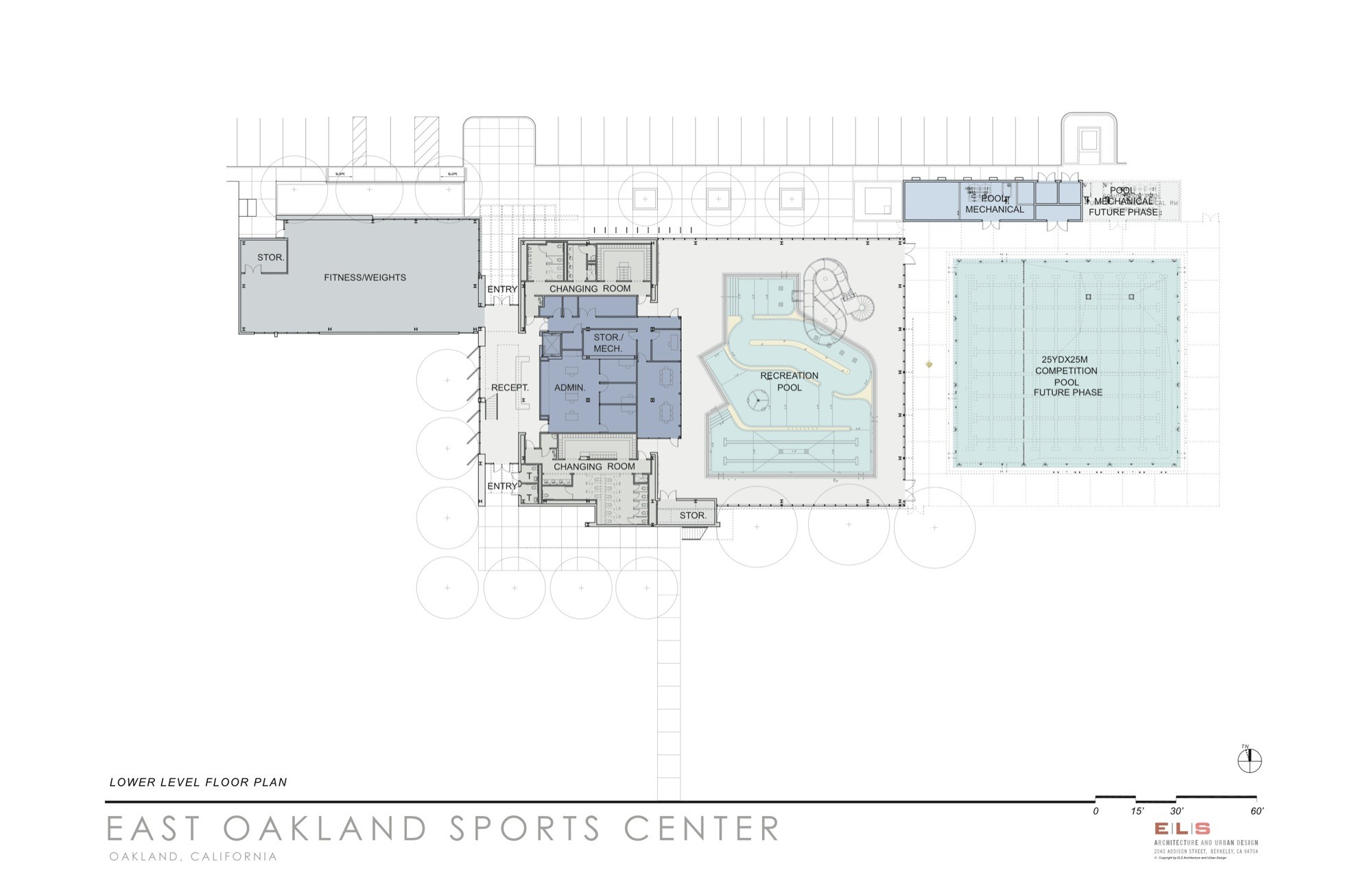 Gallery of east oakland sports center els architecture for Oakland flooring
